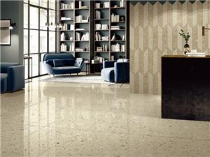 Cream Marble Fine Terrazzo Tile