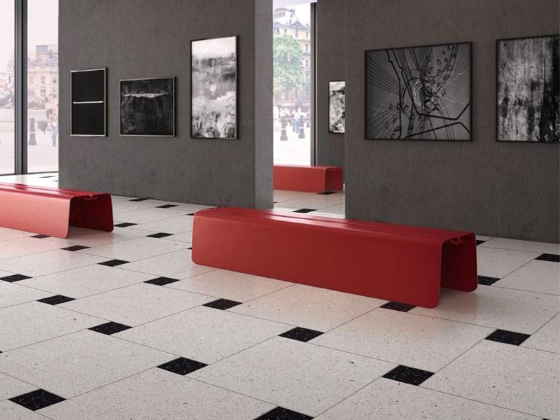 Белая коммерческая напольная плитка Terrazzo