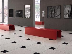 White Terrazzo Stone Floor Tile