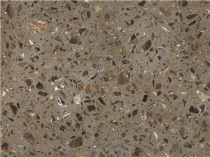 Brown Inorganic Marble Floor Tile
