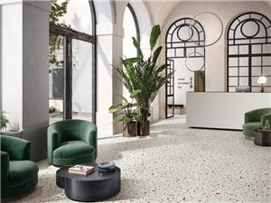 White Inorganic Marble Flooring Tile