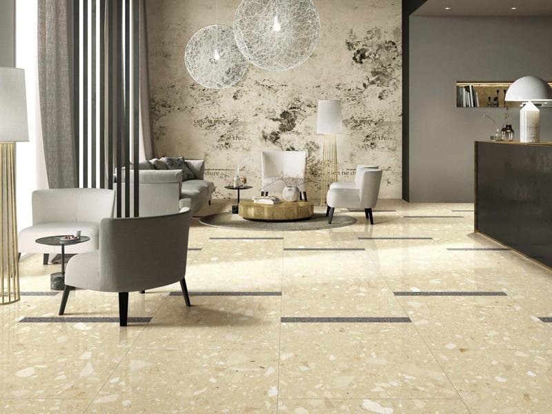 Cream Engineering Stone Mosaic Tile
