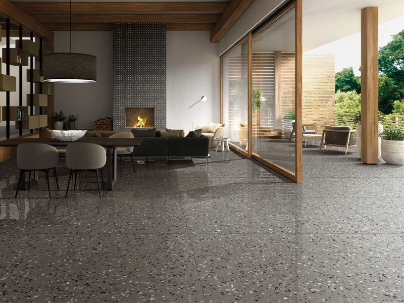 Gray commercial engineering marble tile