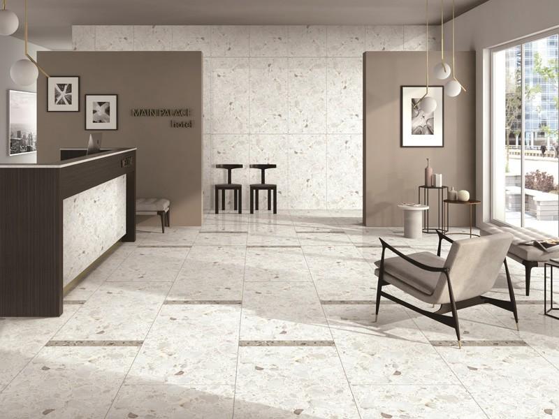 White Engineering Marble Subway Tile