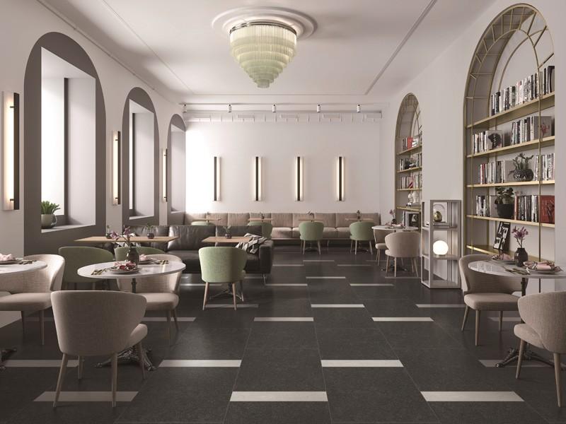 Black Interior Engineered MarbleTile
