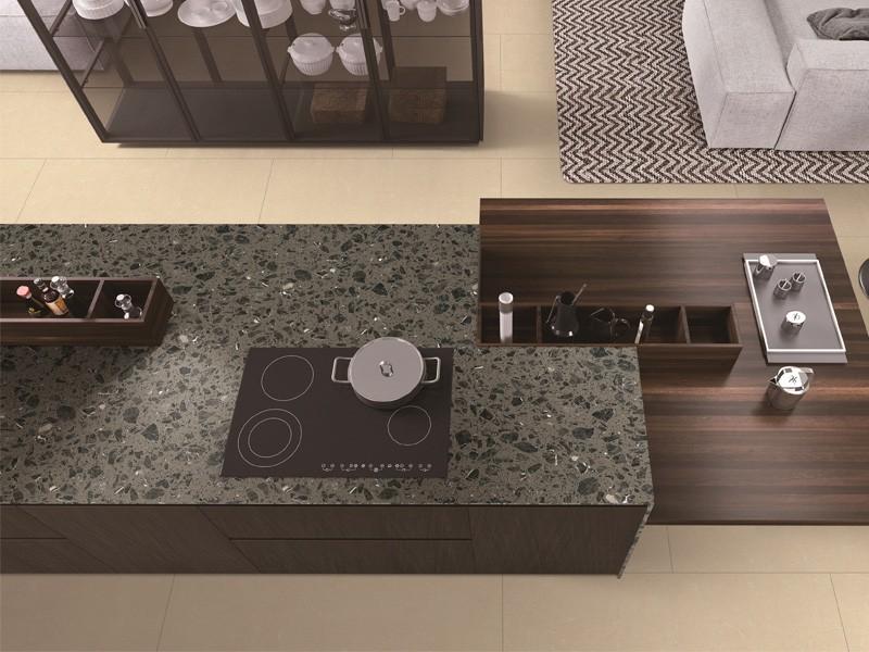 Beige Artificial Marble Kitchen Tile