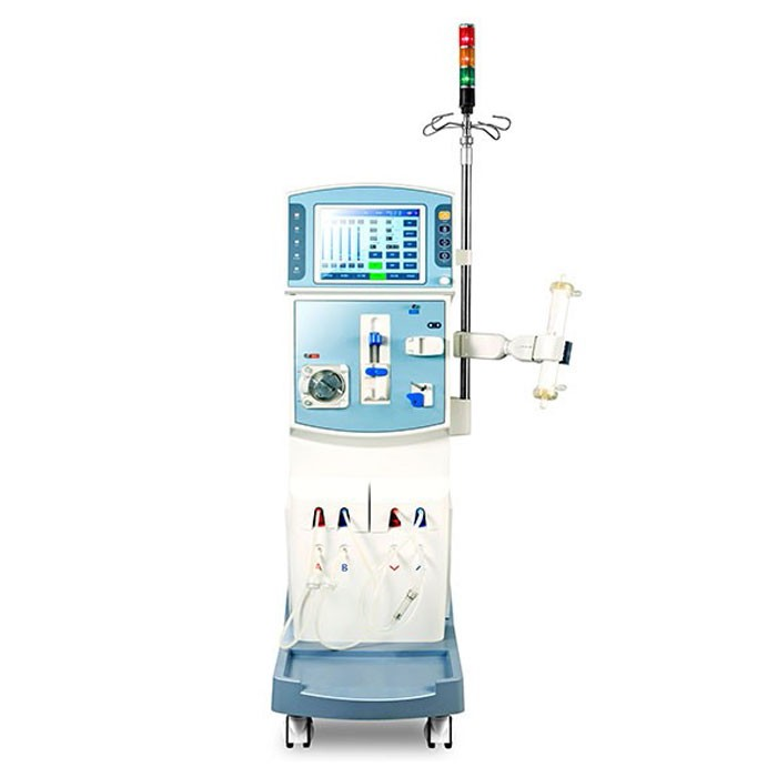 Dual system medical dialysis machine