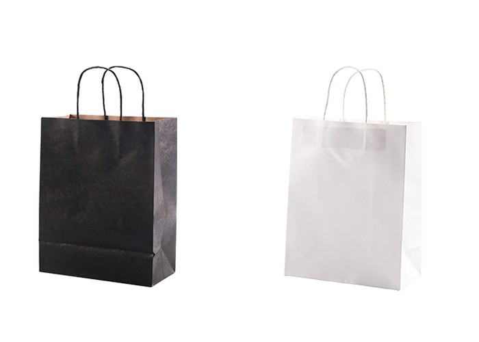 Custom White Recyclable Twisted Handle Paper Bag Manufacturers, Custom White Recyclable Twisted Handle Paper Bag Factory, Supply Custom White Recyclable Twisted Handle Paper Bag