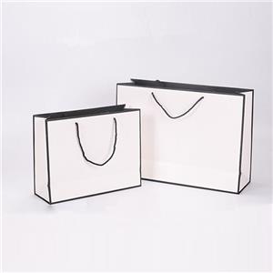 Portadores de asa retorcida reciclables blancos personalizados