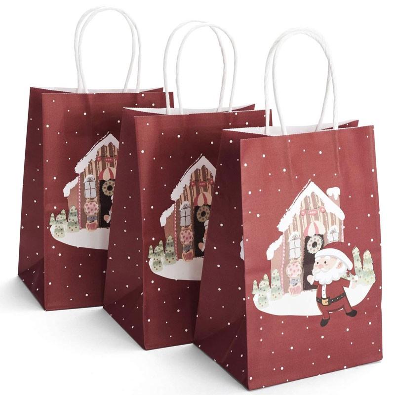 Bolsas de papel navideñas personalizadas