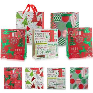 Christmas Paper Gift Bags with Handles