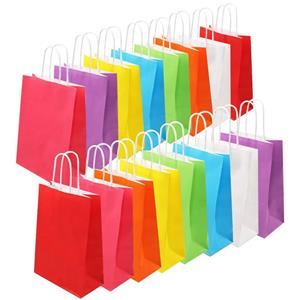Custom Paper Gift Bags Plain Paper Bags Coloured Paper Bags
