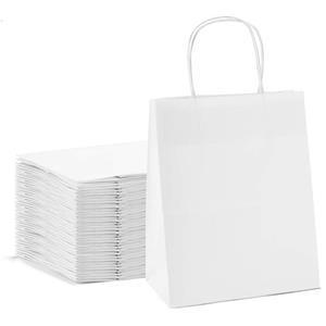Custom White Kraft Paper Bags