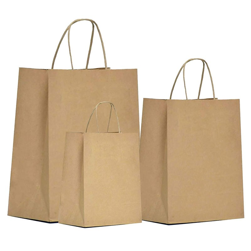 Bolsas de regalo de papel Kraft natural