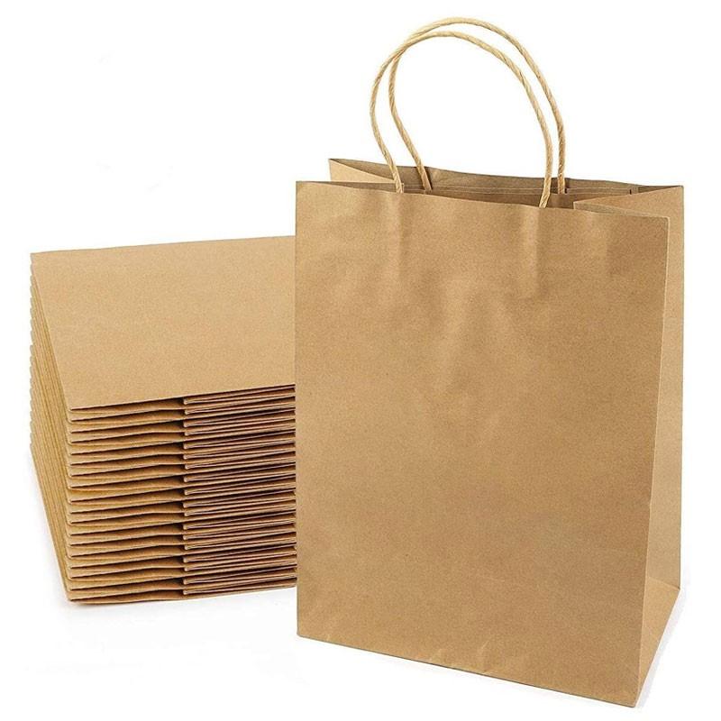 Bolsas de papel Kraft marrón natural