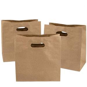 Bolsa de papel Kraft personalizada con asa troquelada