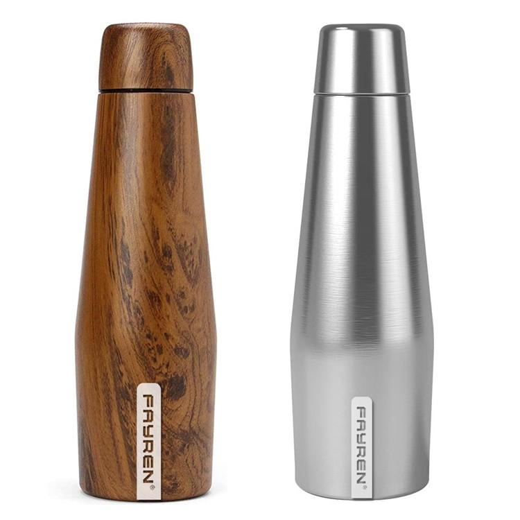 Botella de agua de acero inoxidable con aislamiento ecológico de 24 horas