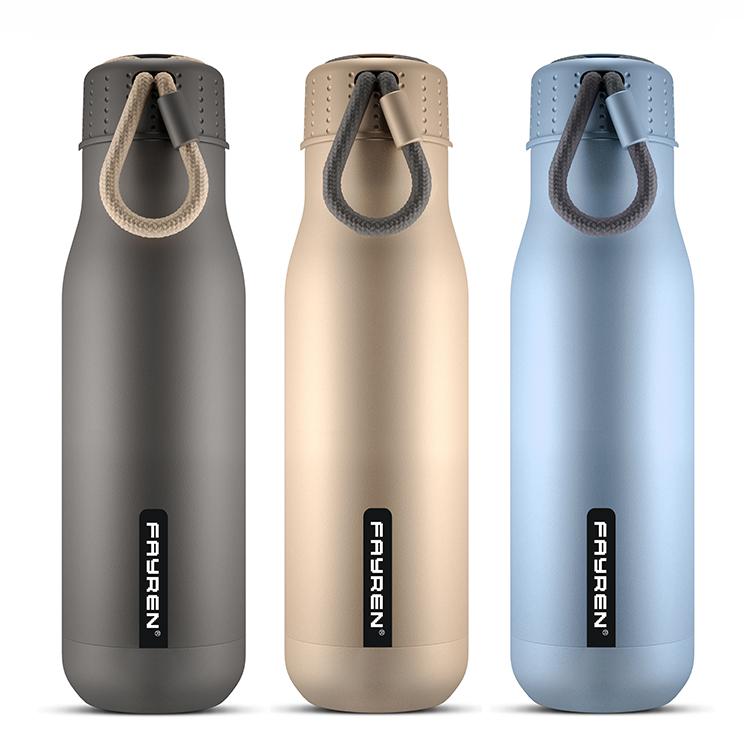Botella de agua de la bebida de los deportes del metal inoxidable de la etiqueta privada
