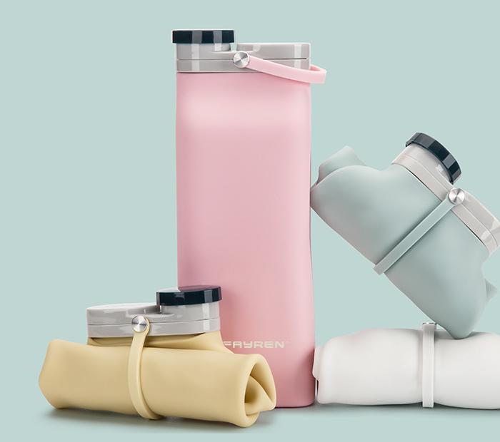 Taza plegable de silicona
