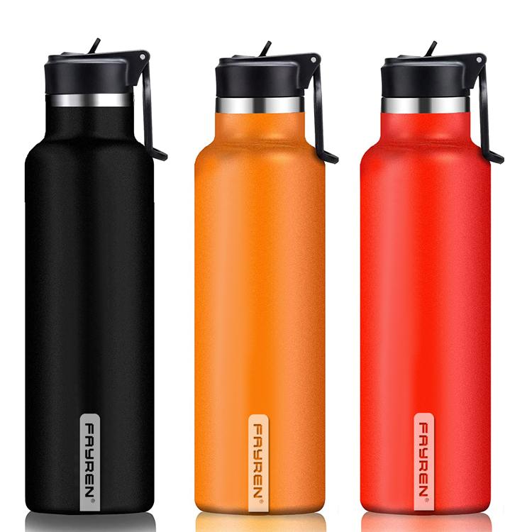 Botella de agua de acero inoxidable con aislamiento ecológico las 24 horas