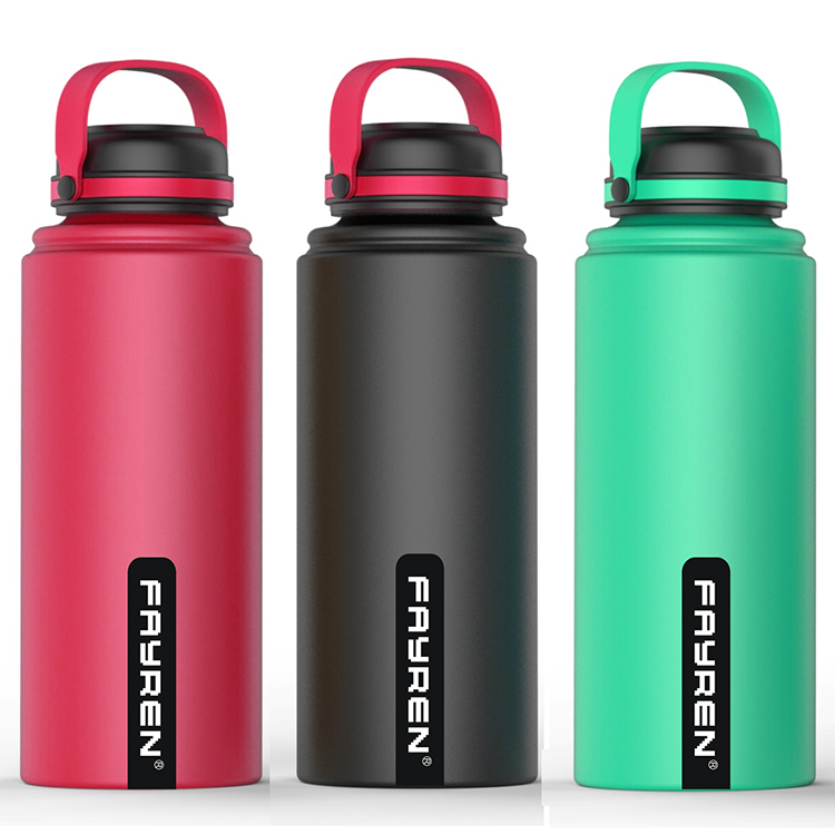 Large Capacity Travel Stainless Water Bottle With Handle