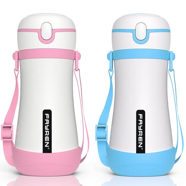 زجاجة مياه الشرب للأطفال مع القش