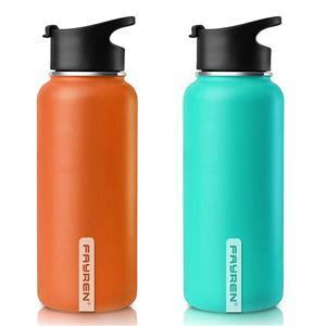 Parede dupla de garrafa de água potável de aço inoxidável de 1,2L