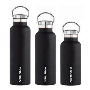 Garrafa de água esportiva de aço inoxidável personalizada 2020 com alça