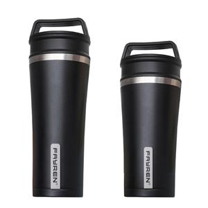 Xícara de café portátil de aço inoxidável com tampa externa selada