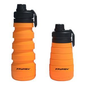 زجاجة فايرين المحمولة متعددة الوظائف من السيليكون للسفر في الهواء الطلق قابلة للطي زجاجة رياضية خارجية