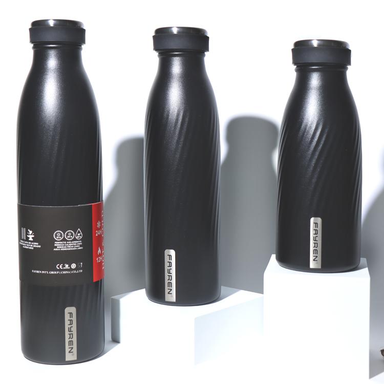قارورة حرارية معزولة خالية من مادة BPA من الفولاذ المقاوم للصدأ للمشروبات الساخنة والباردة