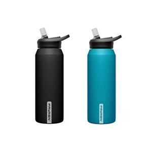 زجاجة مياه رياضية مزدوجة الجدار من الفولاذ المقاوم للصدأ مع فم واسع للرياضة في الهواء الطلق