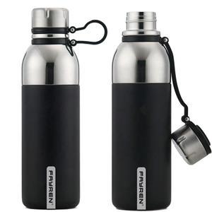 زجاجات مياه رياضية ستانلس ستيل غير قابلة للتسرب معزولة بالشفط للسفر