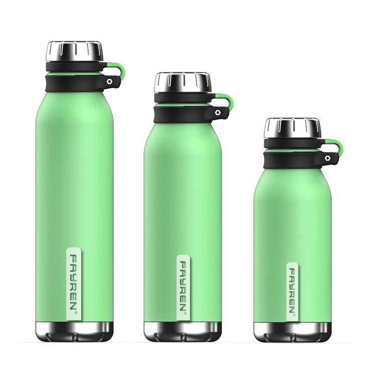 زجاجة شرب مانعة للتسرب مع زجاجة ماء عازلة للحرارة خالية من مادة BPA مع غطاء لولبي