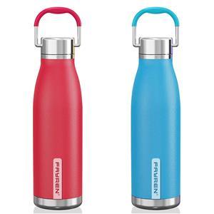 زجاجة شرب مزدوجة الجدار معزولة فراغ قارورة خالية من BPA مانعة للتسرب