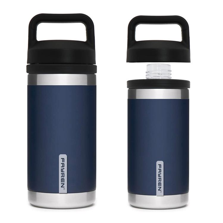 زجاجة ماء معزولة فراغ من الفولاذ المقاوم للصدأ مع غطاء Chug