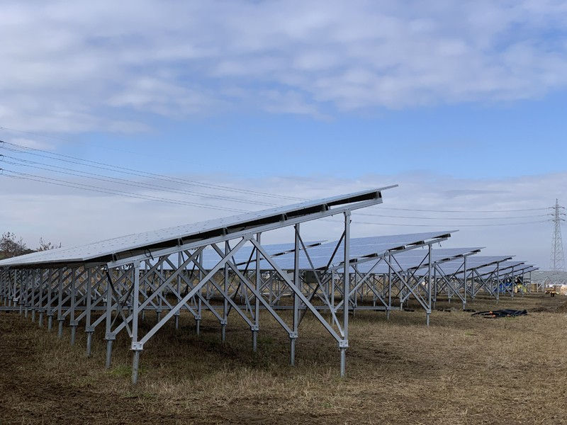 W Type Ground Solar Mounting Systems