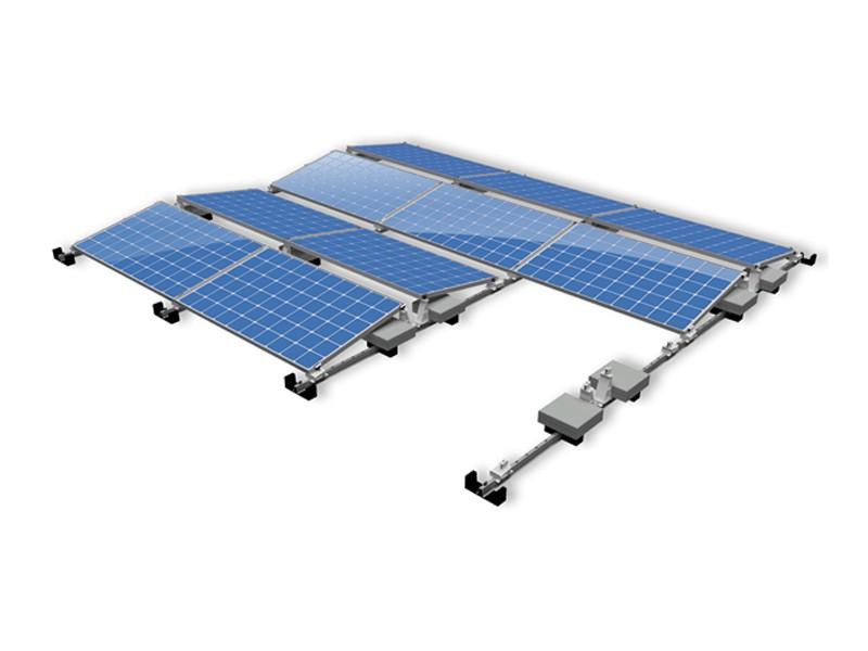 East-west PV Flat Rooftop Aluminum Solar Mount