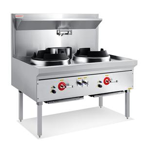 Compact Double Wok Range With Jet Burner