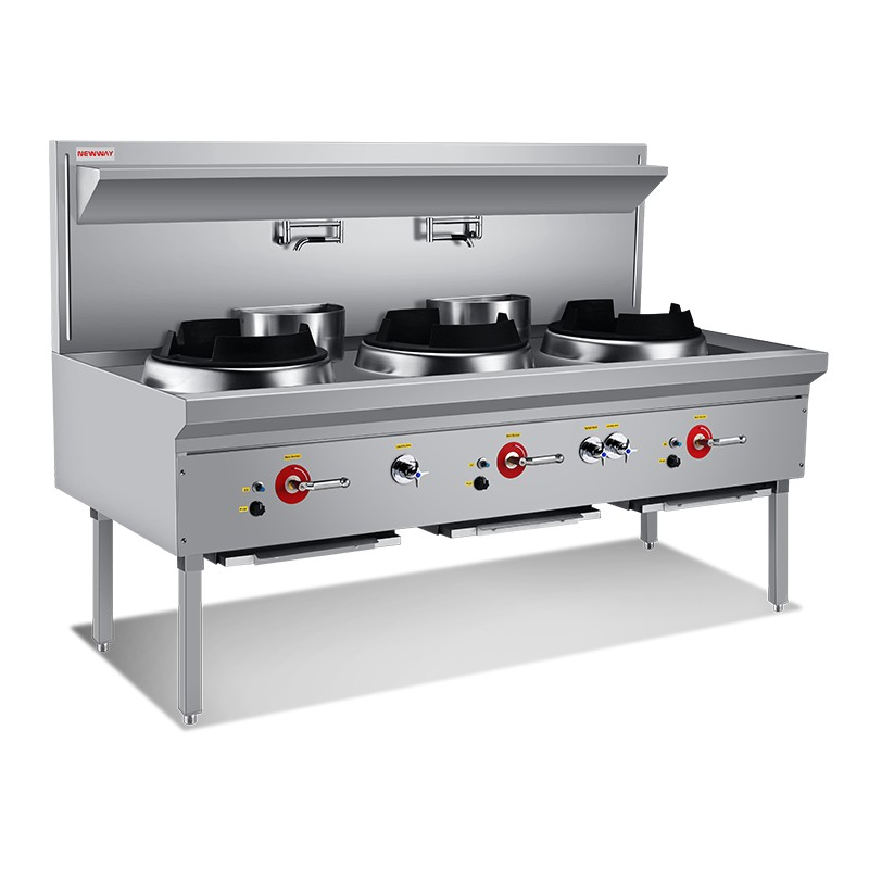 Compact Triple Wok Range With Jet Burner