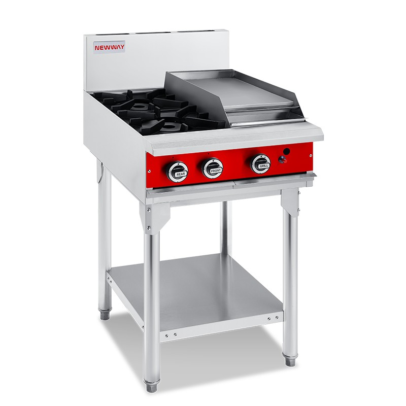 2 Burner With 300mm Griddle Gas Cooktops
