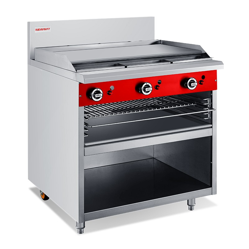900mm Gas Commercial Griddle Toaster