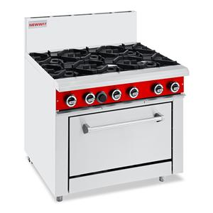 Commercial Gas 6 Burner Oven Ranges