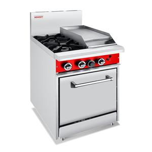 Commercial Gas 2 Burner With 300mm Griddle Oven Ranges
