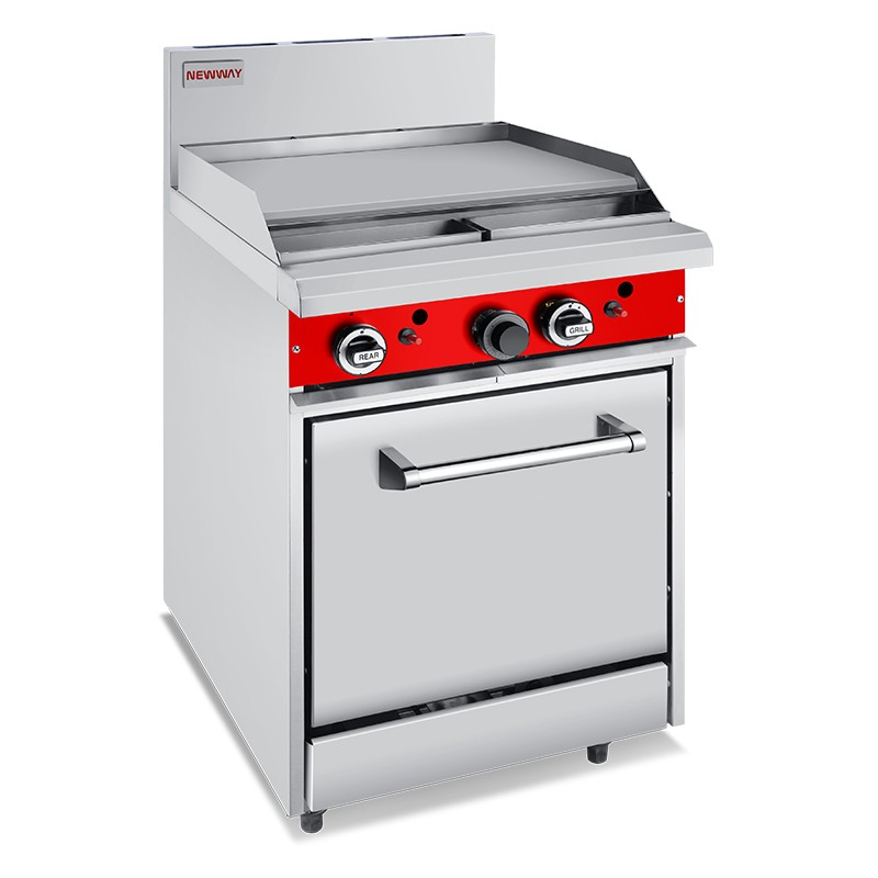 Commercial Gas 600mm Griddle Oven Ranges