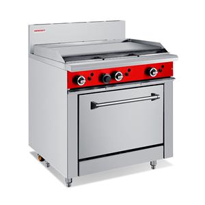 Commercial Gas 900mm Griddle Oven Ranges