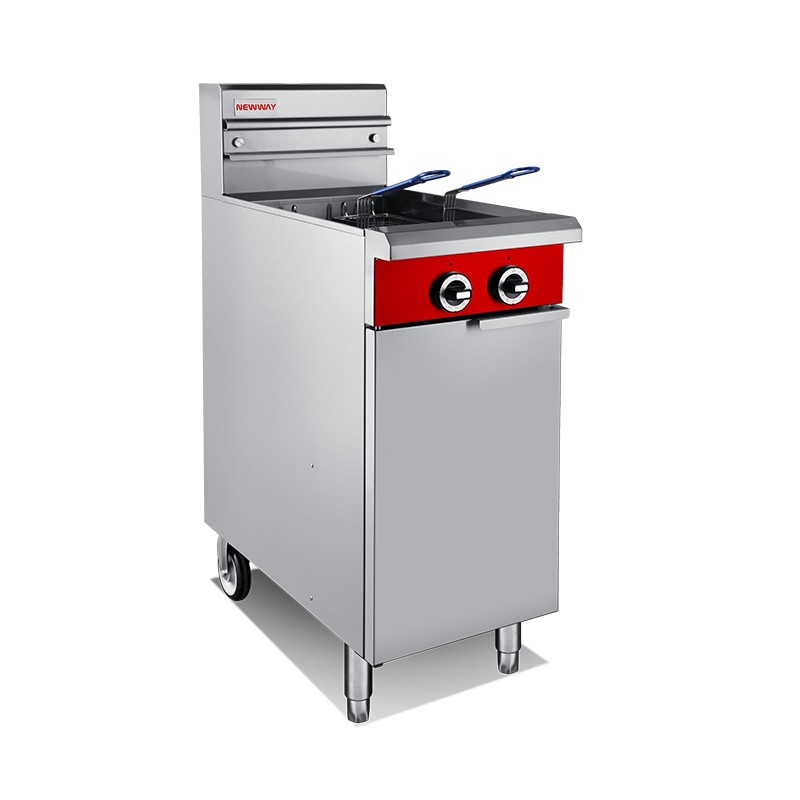 V Tank Twin Pan Gas Fryer