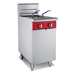 Twin Tank Electric Freestanding Fryer