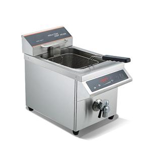 Commercial Countertop Induction Fryer With Drain Tap