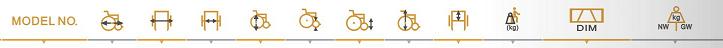 Economical steel wheelchair